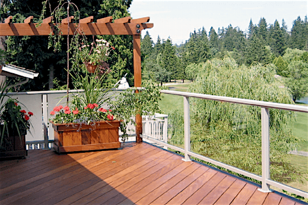 glass railing deck railing-min