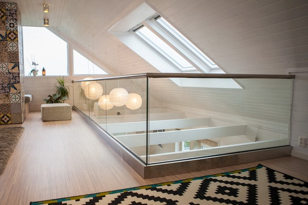 glass railing interior