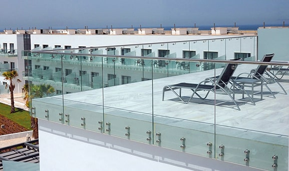 , Glass railing systems