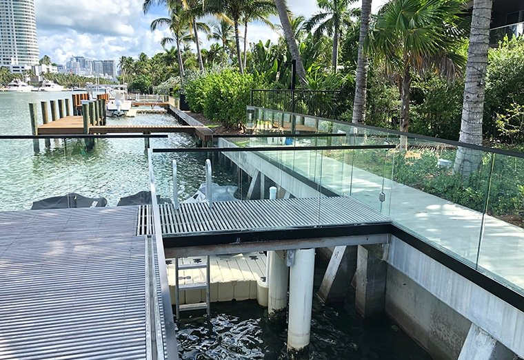 , Project Spotlight: Glass Railing at DJ Khaled's Miami Home