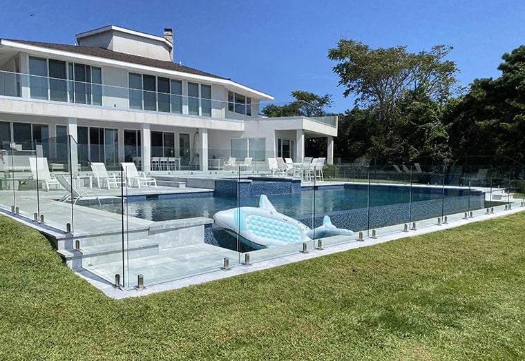 glass pool fence design
